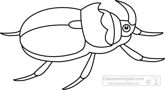 Beetle clipart black and white Classroom outline : 930 930