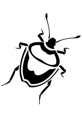 Bug clipart creepy Black white black clipart bug