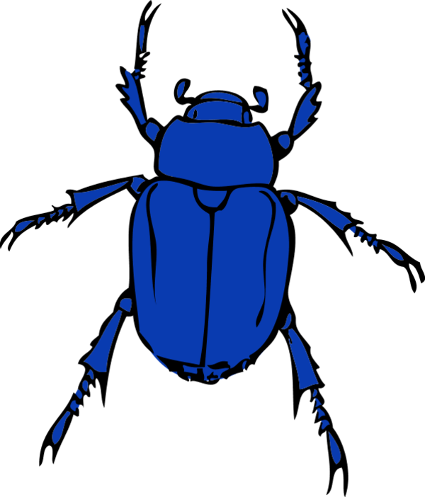 Bugs clipart blue Cute insect bug kid clipart
