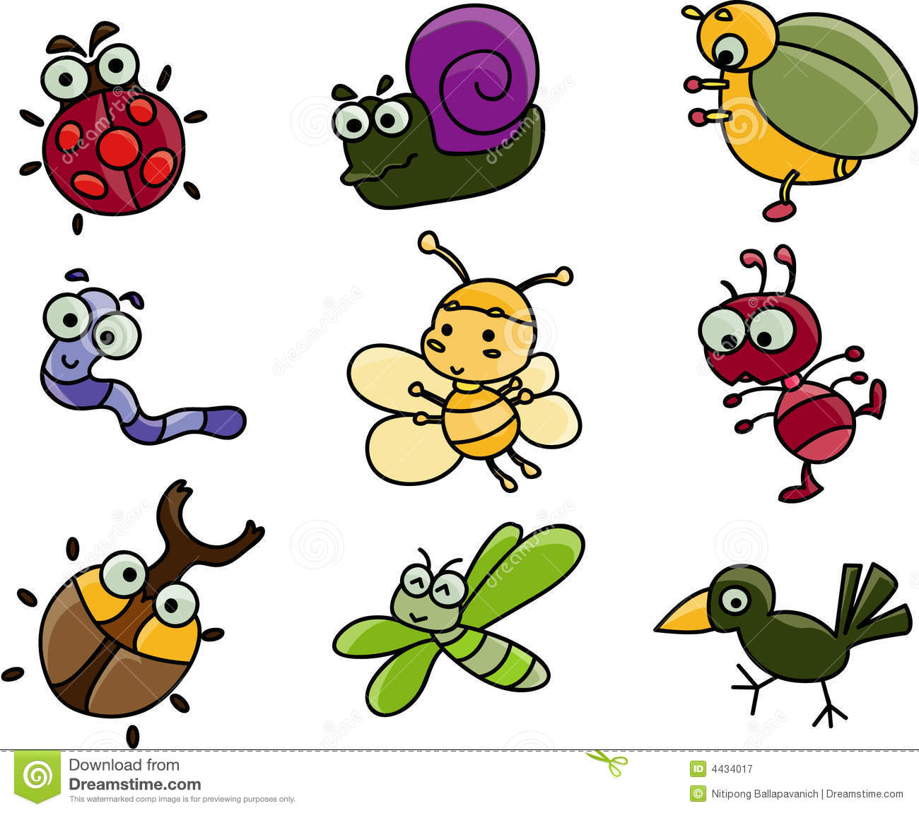 Beelte clipart cute Insects Cartoon Collection Clipart Bug