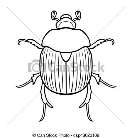Beatle clipart dor Beetle symbol isolated icon Insects
