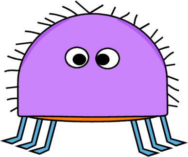 Bugs clipart funny Purple Bug Hairy Purple Hairy