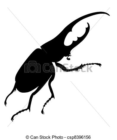 Bug clipart silhouette Vector of Clip  bug