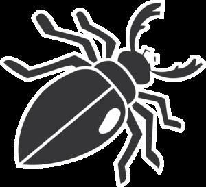 Beatle clipart silhouette Beetle Clker  clip vector
