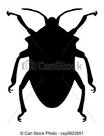 Beatle clipart silhouette True bug Search csp5623551 Vector
