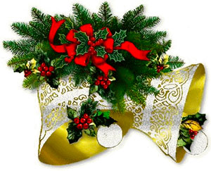 Holley clipart christmas bell Free Christmas Bells with berries