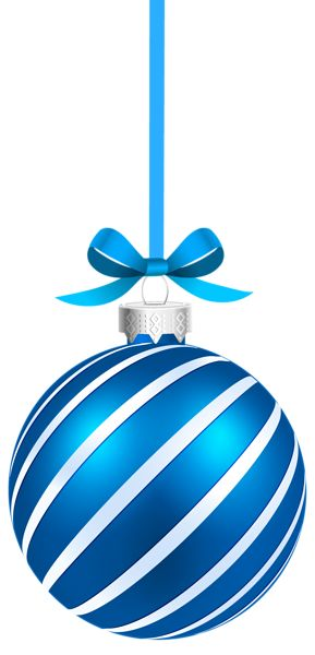 Merry Christmas clipart ornament Blue Sriped Clipart ornaments on