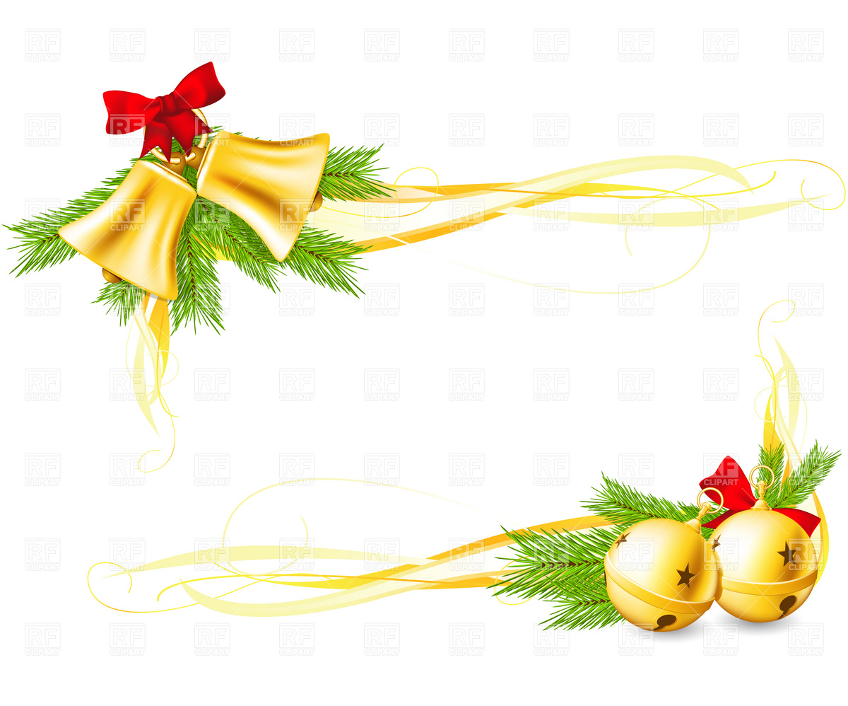 Holydays clipart corner Download borders Bells collection christmas