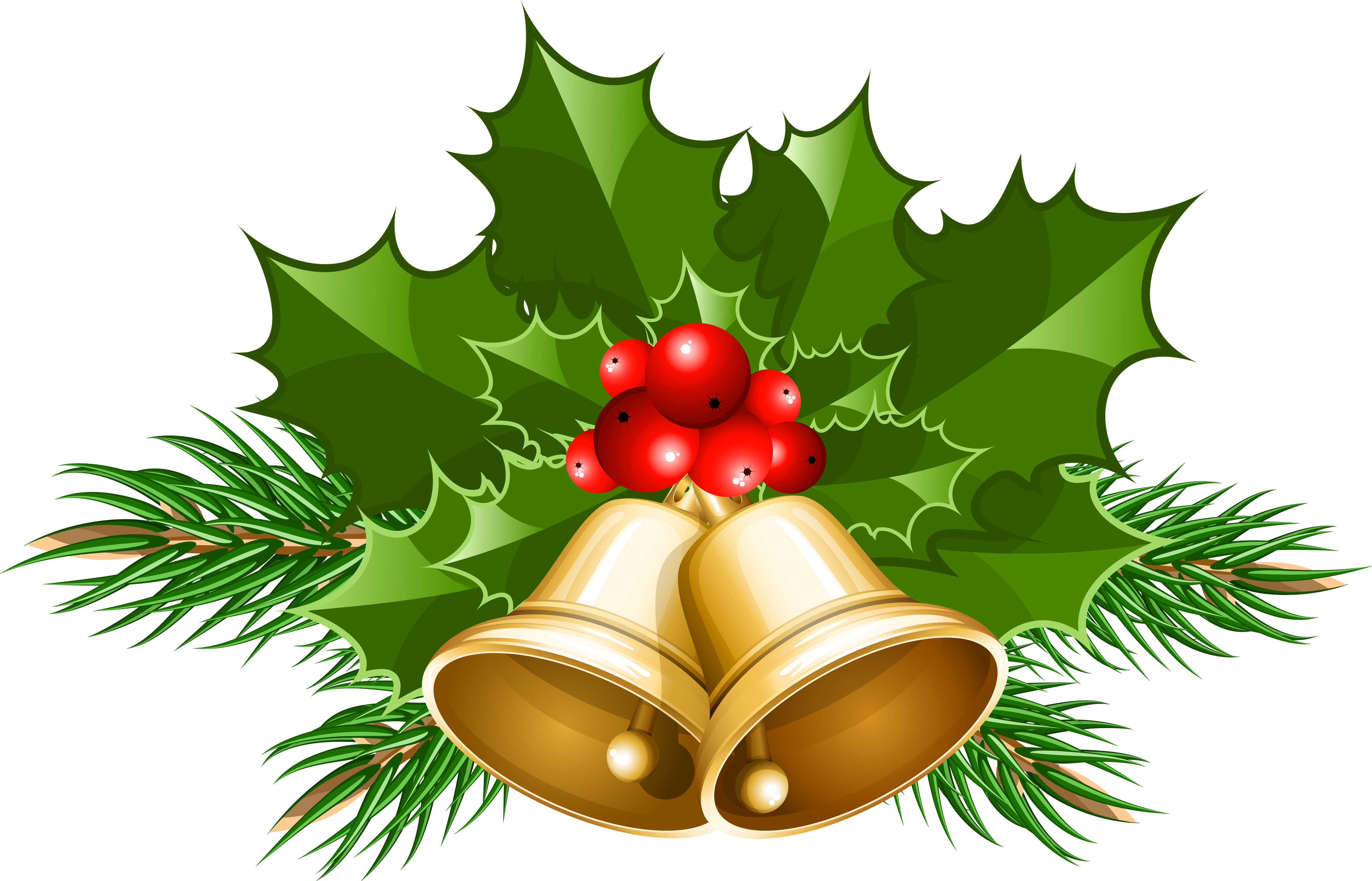 Holley clipart christmas bell Holly Bells Clipart PNG christmas