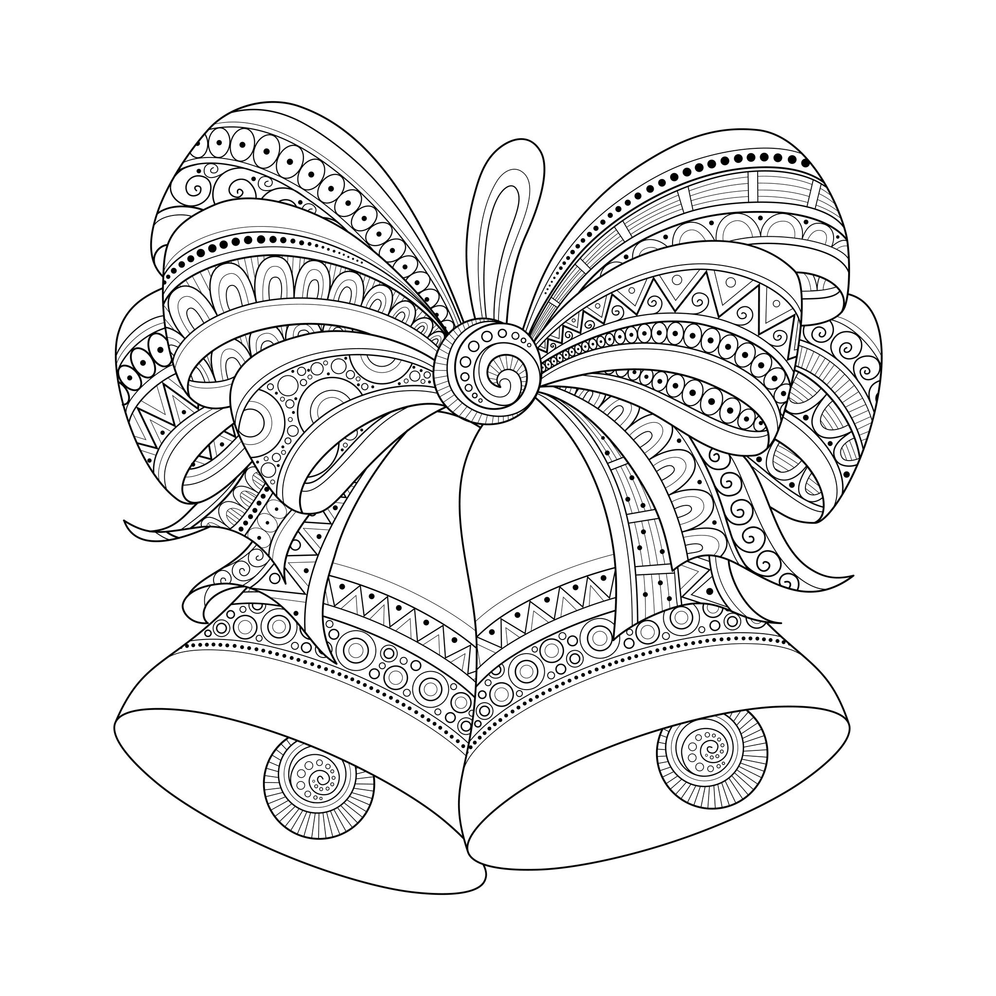 Drawn christmas ornaments coloring page Christmas for Christmas adult coloring
