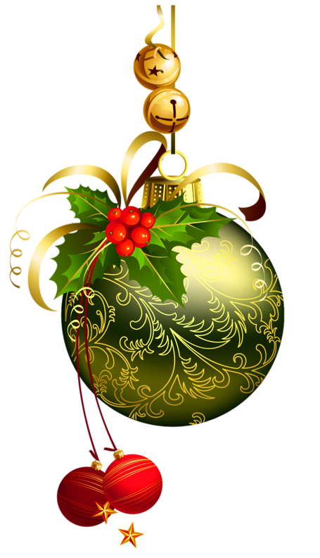 Holley clipart christmas greens ORNAMENTS CHRISTMAS AND BELLS Christmas