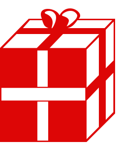 Gift clipart red present #15
