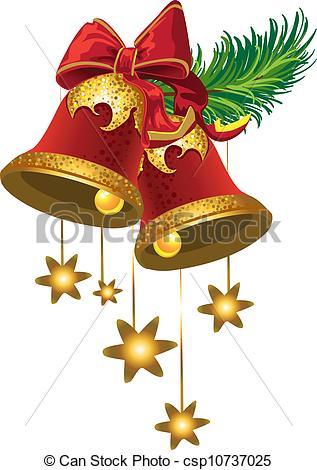 Bell clipart christmas star Christmas  csp10737025 of Illustration