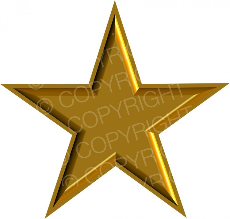 Bell clipart christmas star  Gold Clipart Art Holiday