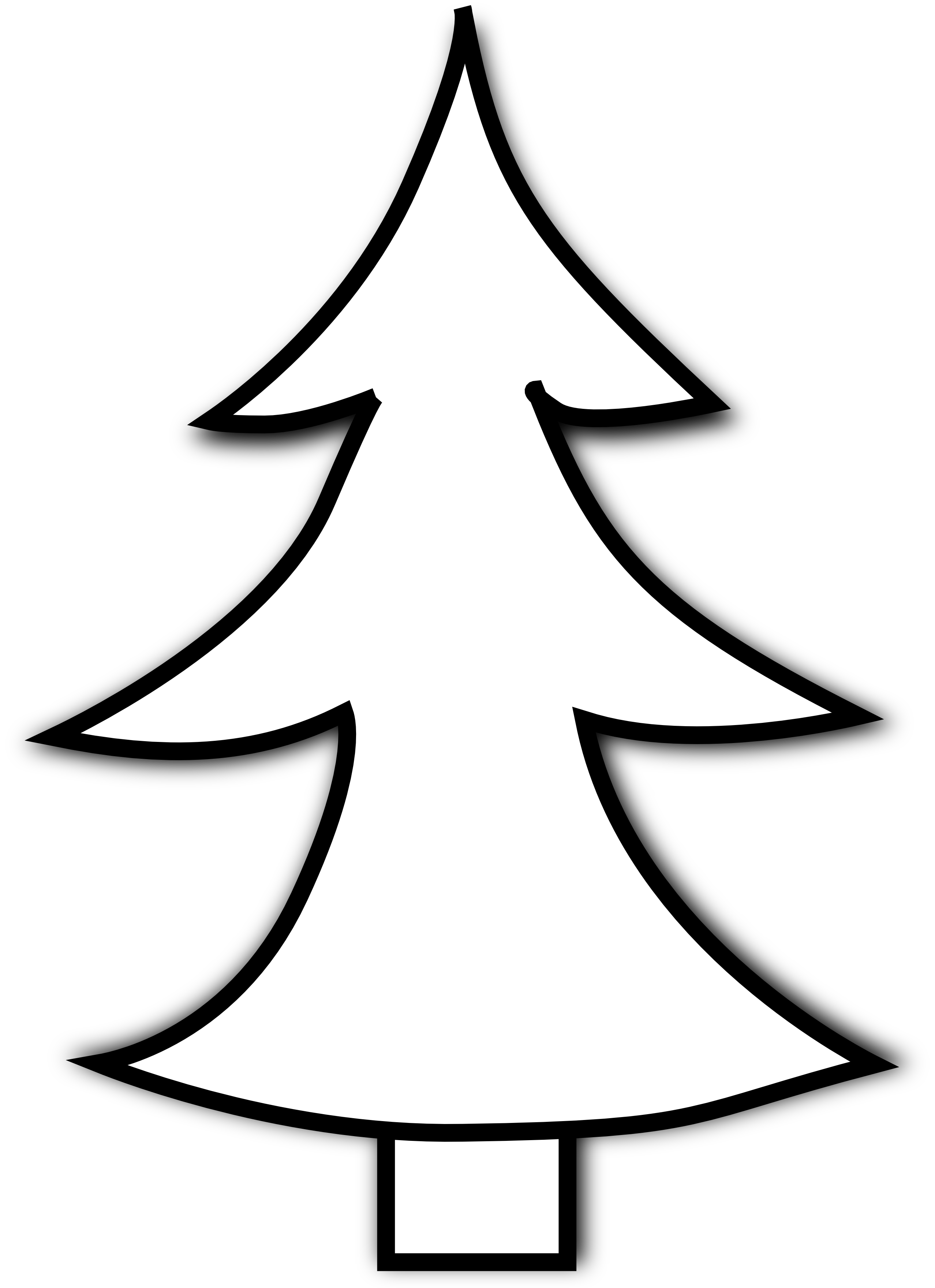 Decoration clipart black and white Tree christmas bells white and