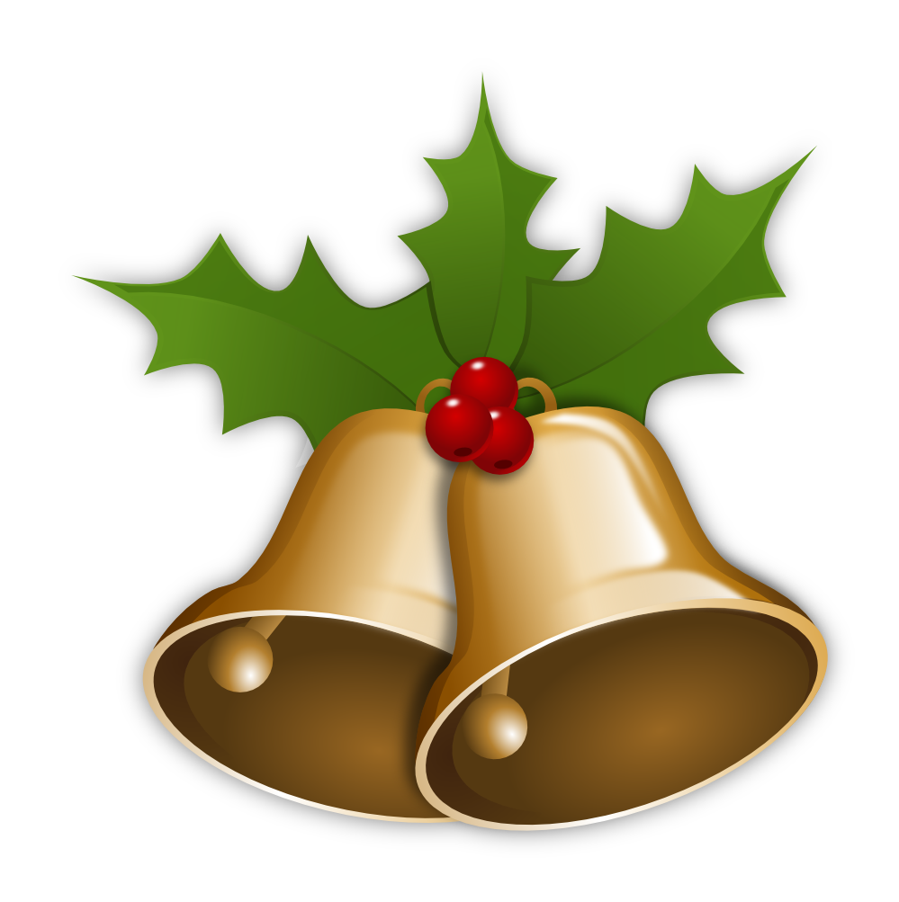 Bell clipart christmas tree decoration Xmas Bells 999px  Clip