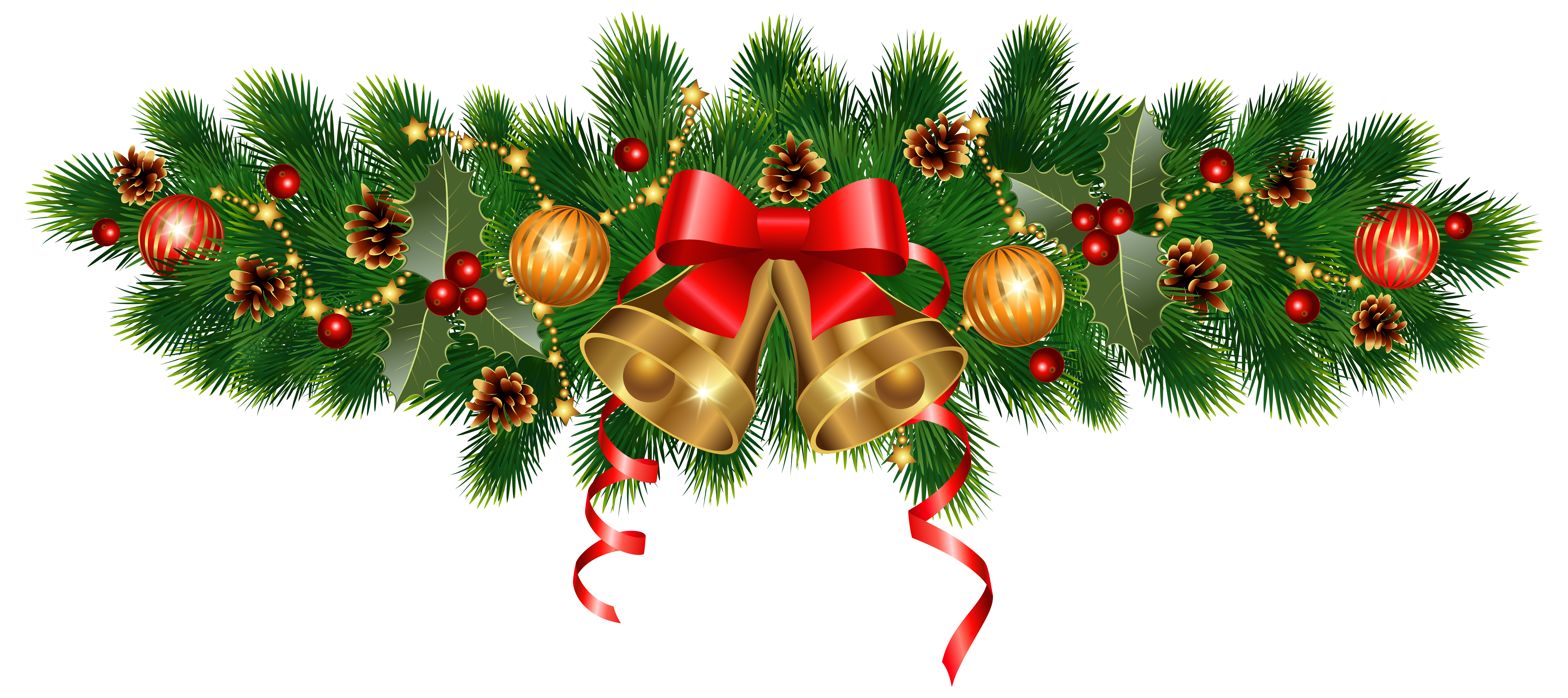 Bell clipart christmas tree decoration Size Christmas Image Golden