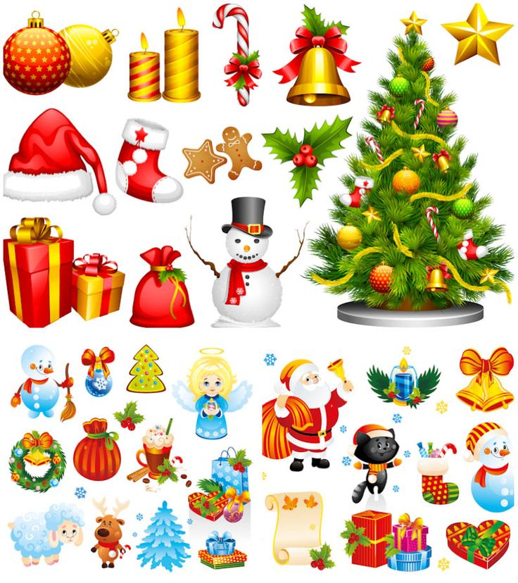 Bell clipart christmas tree decoration Ideas of colorful on Claus