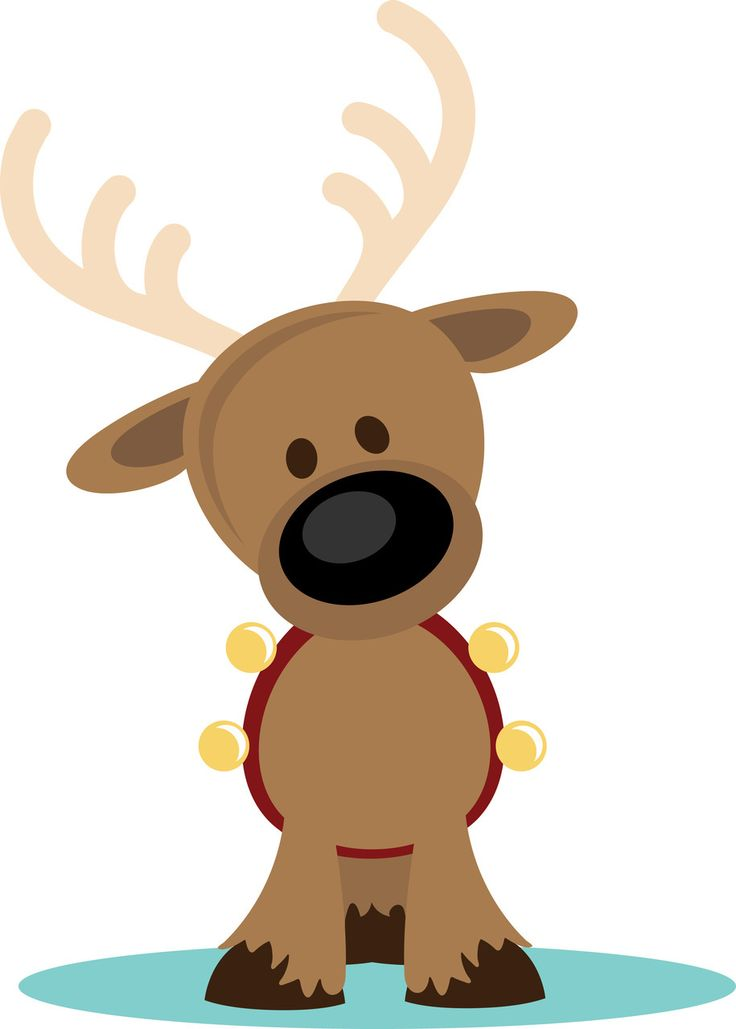 Drawn reindeer santa claus About clip Christmas Bells PPbN