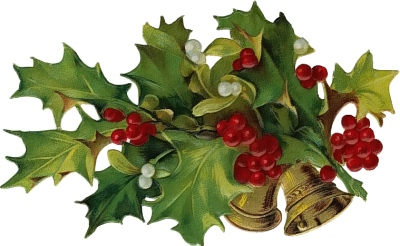 Holley clipart old fashioned Clipart Christmas Vintage collection bough