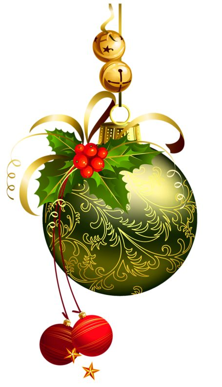 Holley clipart christmas things CHRISTMAS BELLS AND ORNAMENTS CLIP
