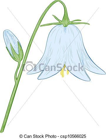 Blue Flower clipart blue bell Illustration bell flower bell Vector