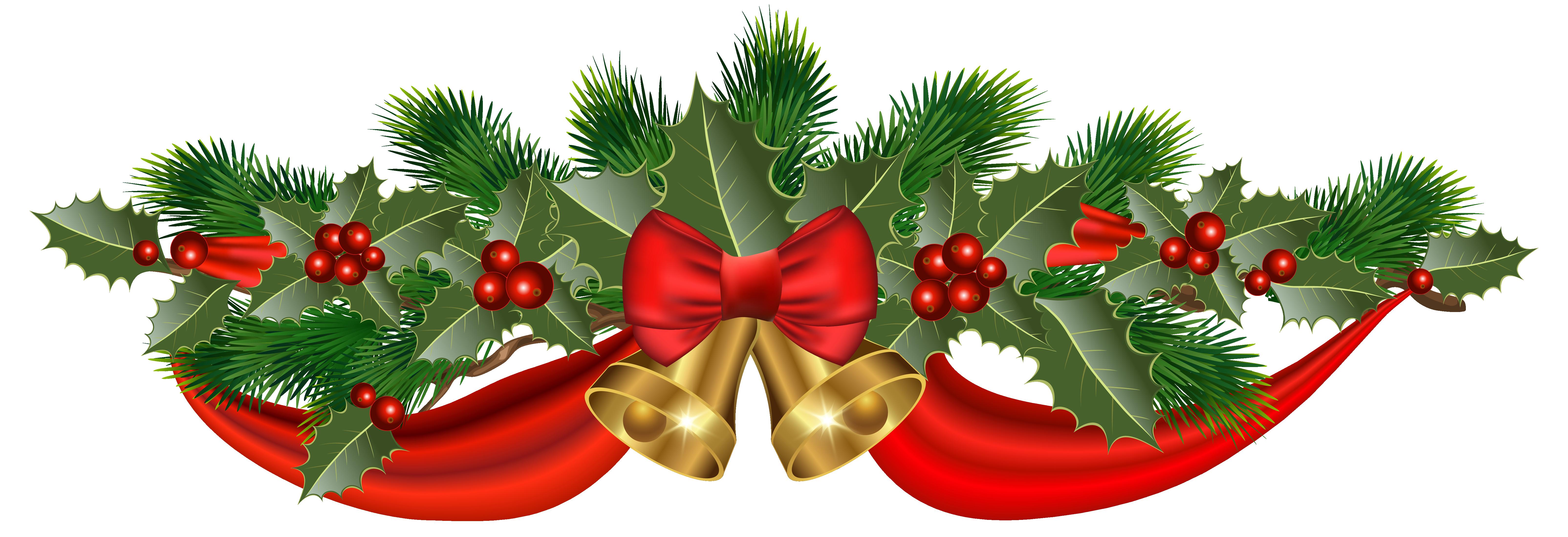 Holley clipart ribbon Christmas Ribbon Clipart Image PNG