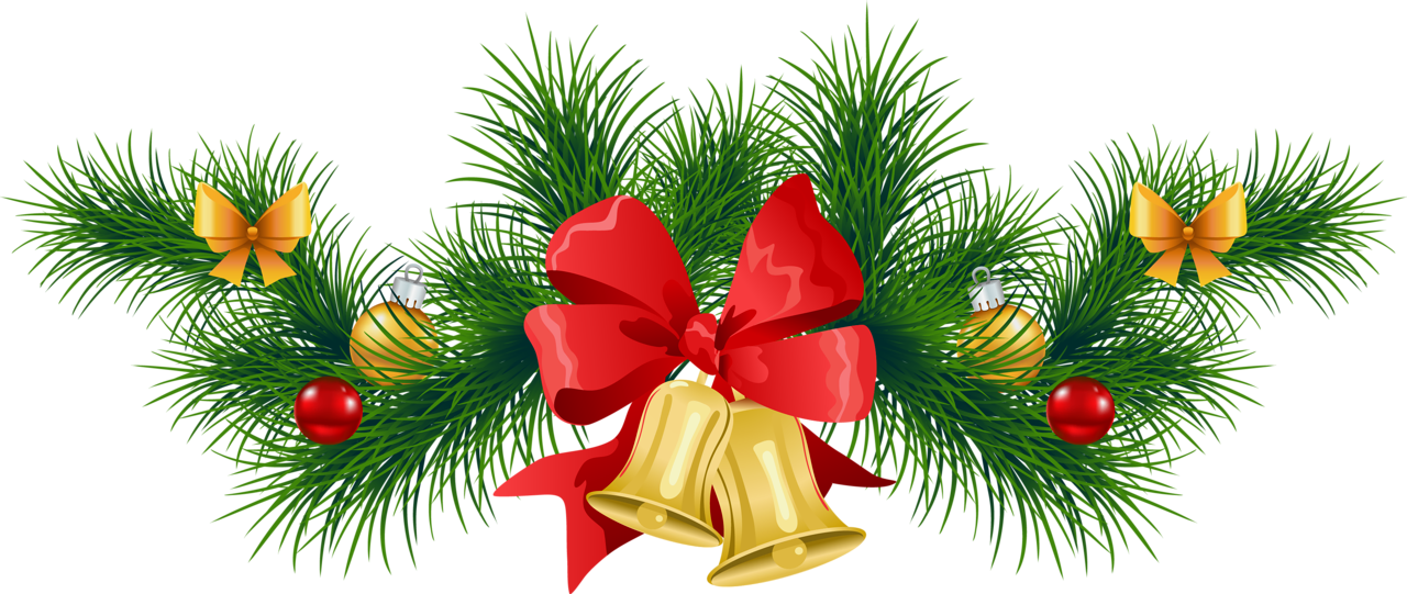 Poinsettia clipart holiday garland With Garland Pine Bells size