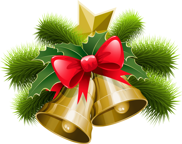 Bell clipart transparent background PNG Christmas Bells Large with