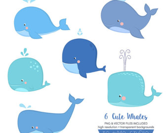 Blue Whale clipart ballena Invitation whales Vectors Cute &