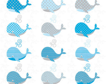 Beluga Whale clipart blue whale Whale for baby Cards Scrapbook