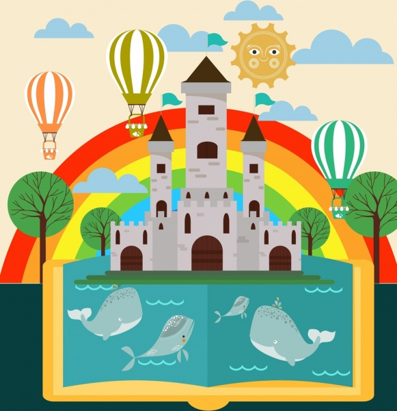 Beluga Whale clipart comic Castle book commercial rainbow icons