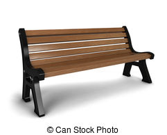 11 3d Bench royalty Illustrations