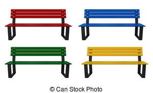 Bench clipart Garden Clip Art Bench 049