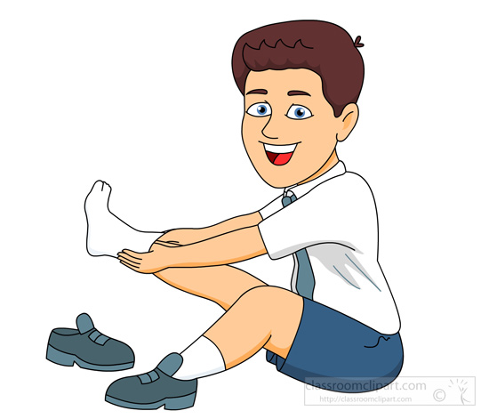 Bench clipart animated Putting clipart Boy sitting on