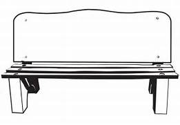 Bench clipart black and white Park Gallery C Bench And