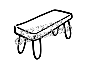 Bench clipart black and white Clipart Basic Words: Free Art: