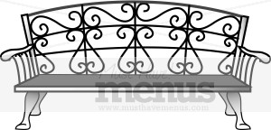 Bench clipart black and white Cafe Clipart Clipart Bench Clipart