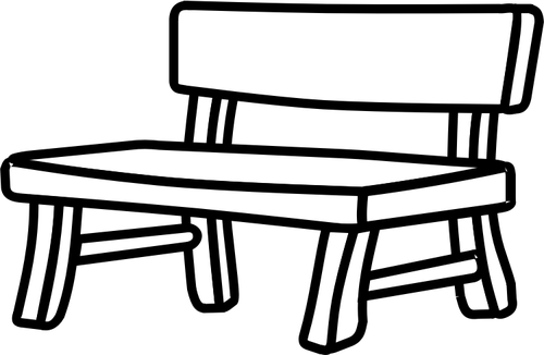 Bench clipart black and white White white black clipart and