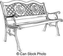 Drawn bench Bench royalty Clip the Art