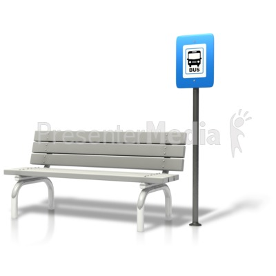 Bench clipart bus stop bench PowerPoint Stop Clipart Bus Bench