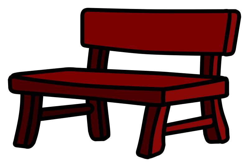Bench clipart cartoon IMAGE coloured (PNG) Clipart MEDIUM