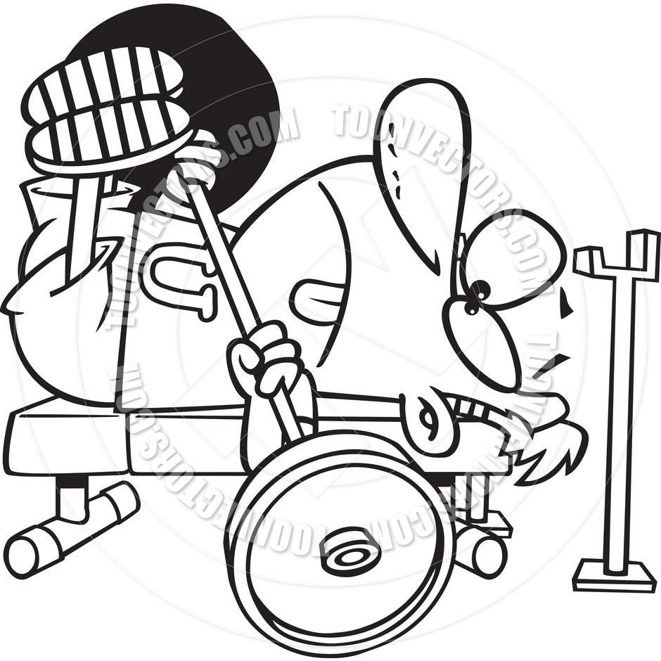 Bench clipart cartoon Cartoon Bench Press  Clipart
