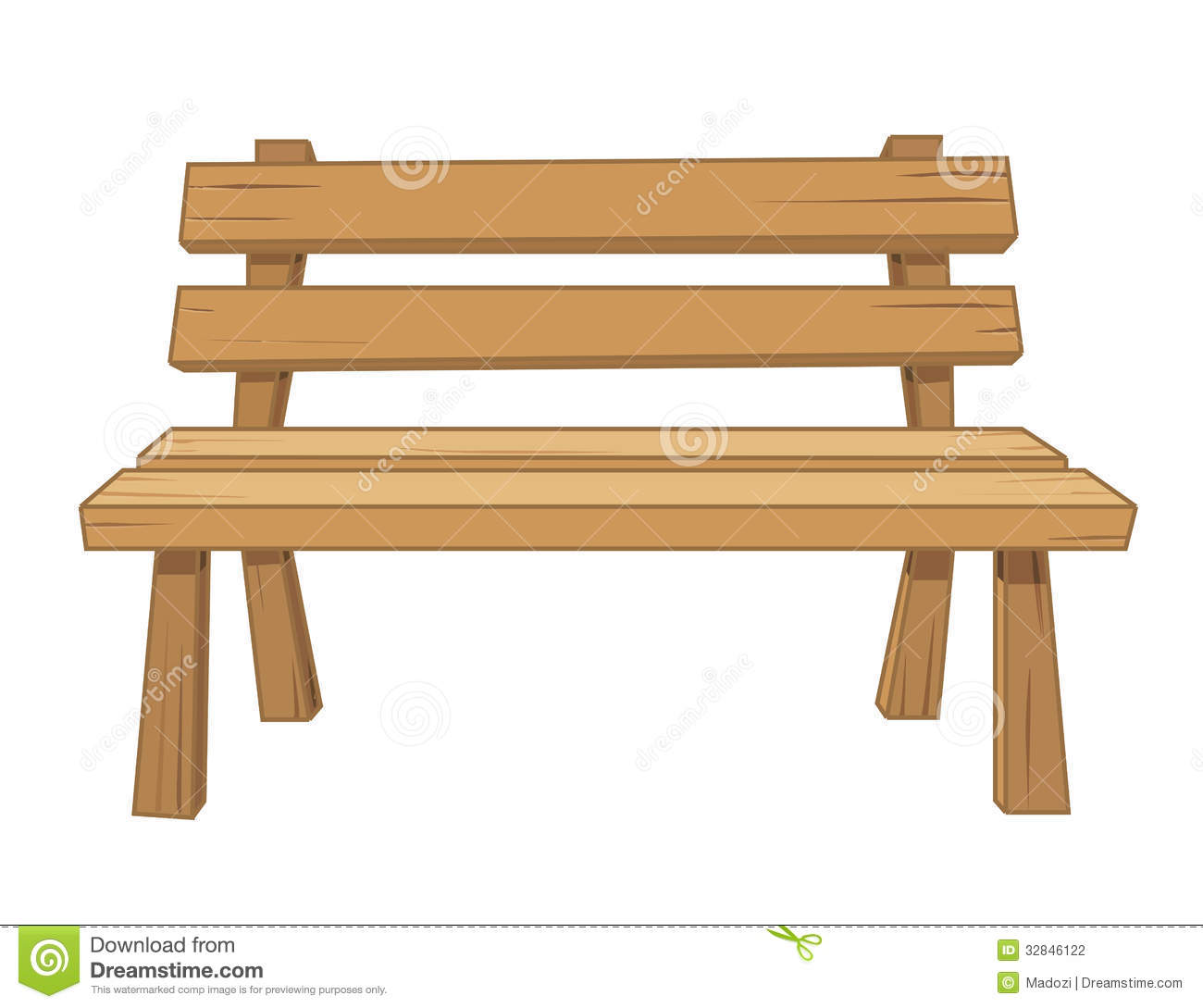 Wood clipart garden chair Clipart Download Bench clipart Bench