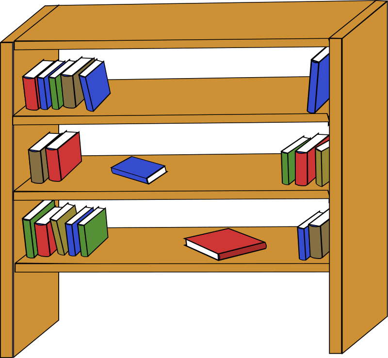 Drawn bookcase animated #13