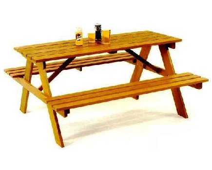 Picnic Table clipart wood table Clip table picinic WikiClipArt art