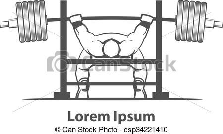 Sport clipart bench Vector bench press of Vector