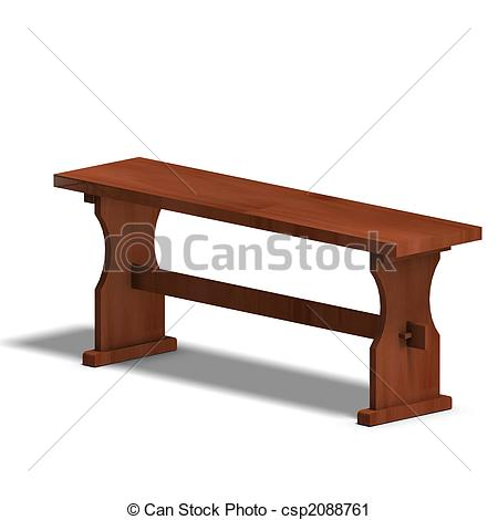 Wood clipart park bench #4