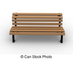 Bench clipart taman Of book 3d bench Open