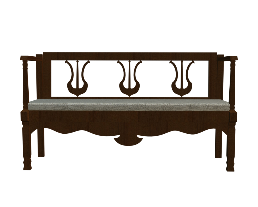 Bench clipart transparent 3d front transparent bench by